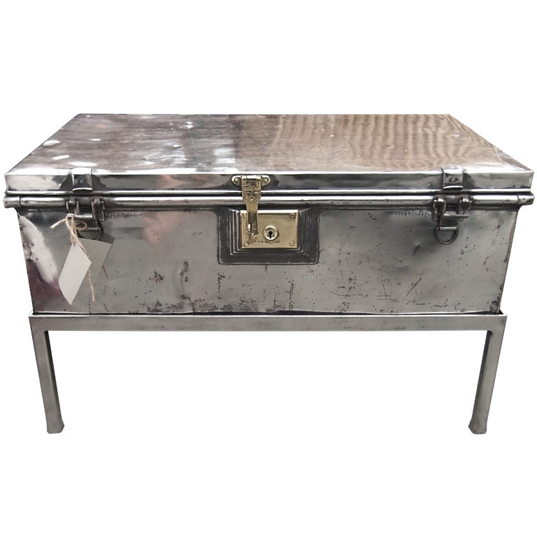 Antique Aluminum British Trunk At 1stdibs
