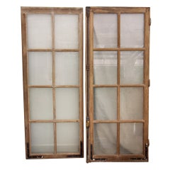19th c. French  Oak Window with gilt iron cremon bolt