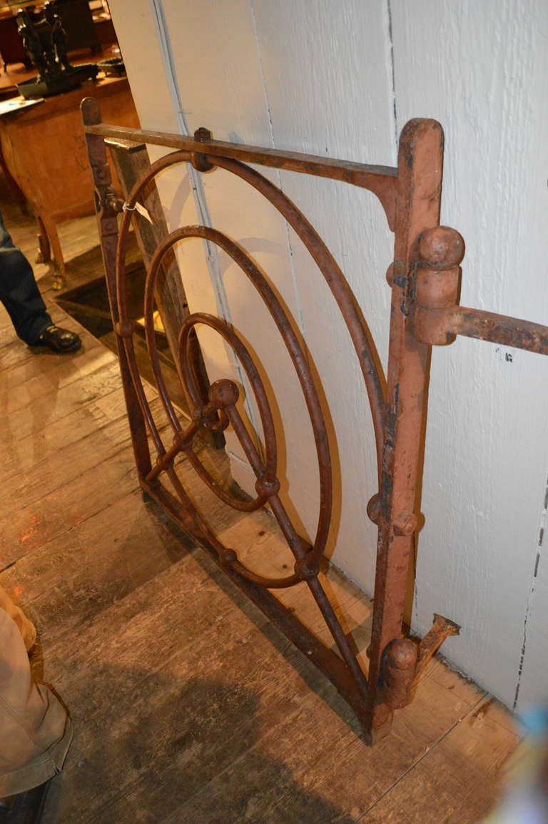 19th C English Iron Gate For Sale 2