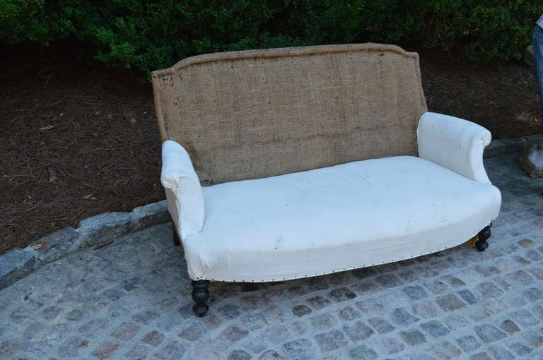 19th Century 19th C French Settee For Sale