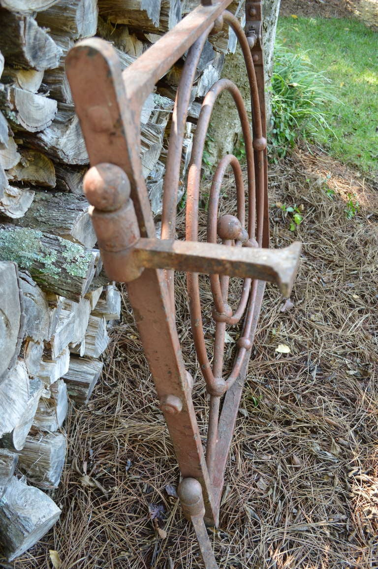 19th Century 19th C English Iron Gate For Sale