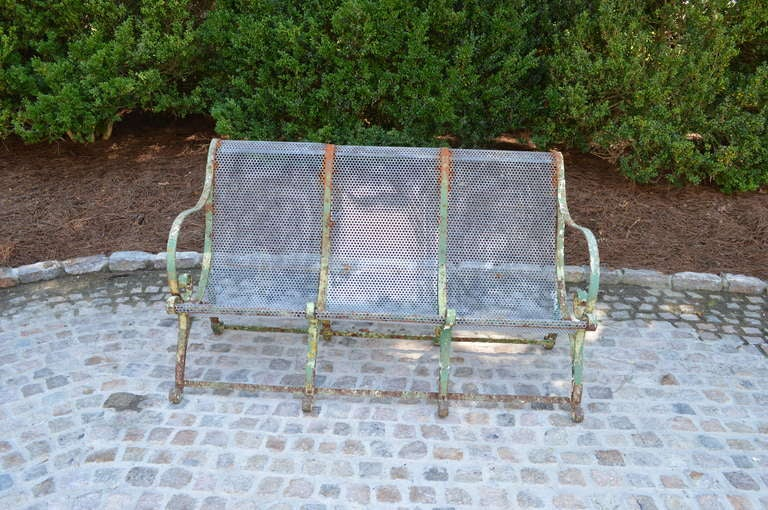 19th C French Jardin Bench In Good Condition For Sale In Nashville, TN