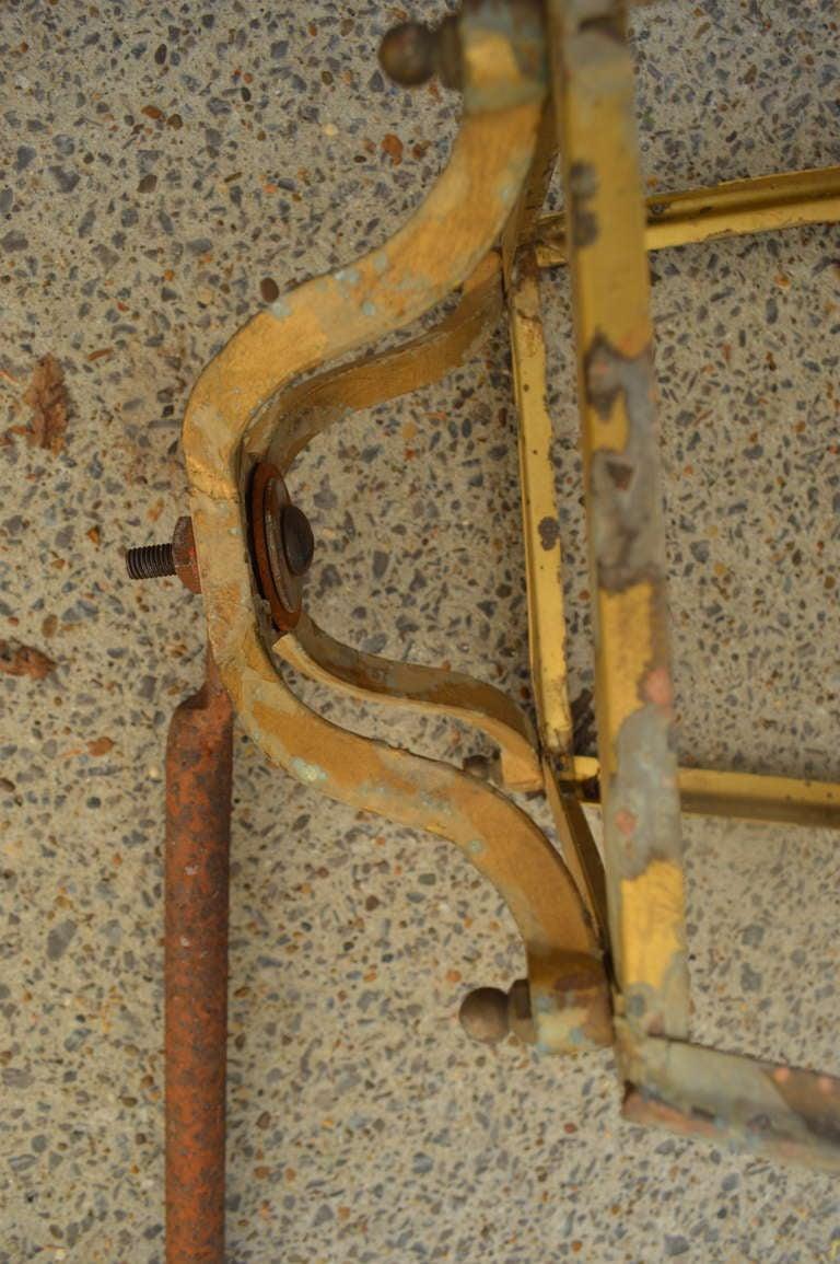 Antique French Iron Lantern on Cast Iron Bracket 7