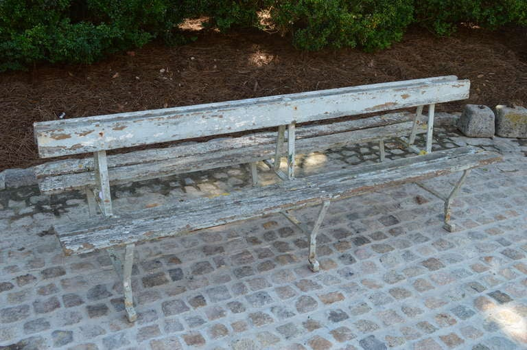 19th c Double sided French Garden Bench 2