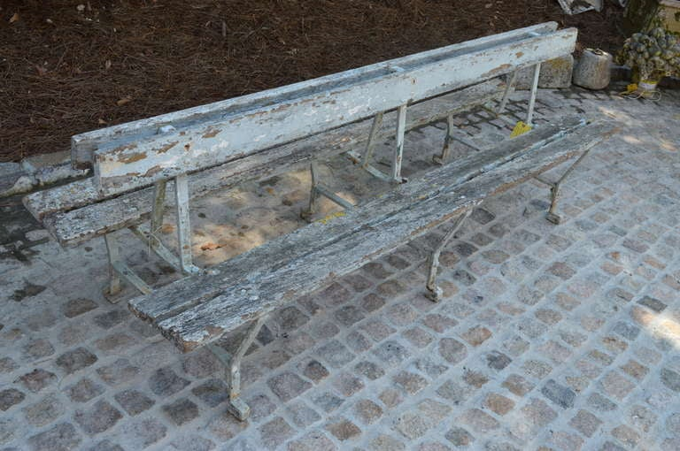 19th c Double sided French Garden Bench In Good Condition For Sale In Nashville, TN