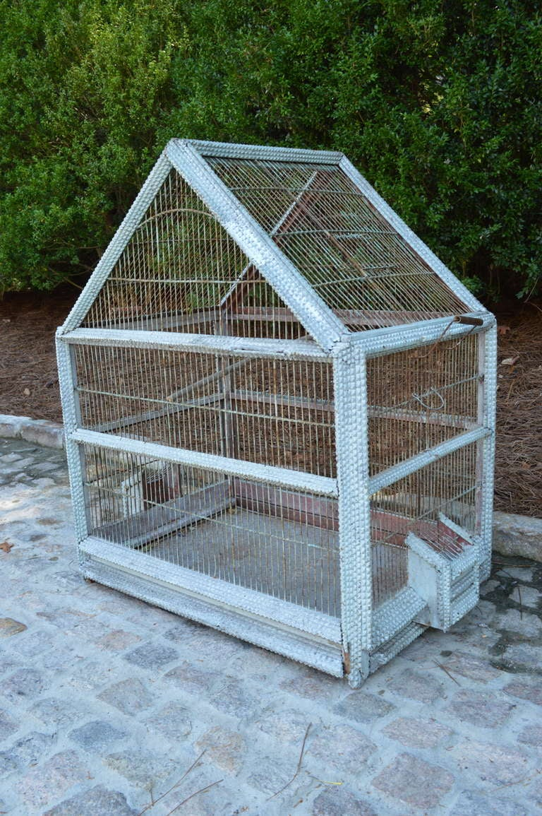1920's French Folk Art Bird Cage 2