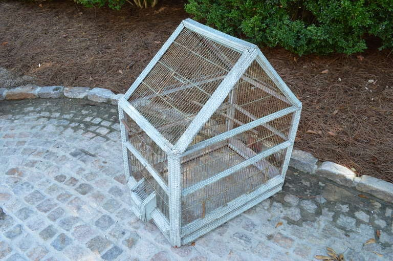 1920's French Folk Art Bird Cage 3