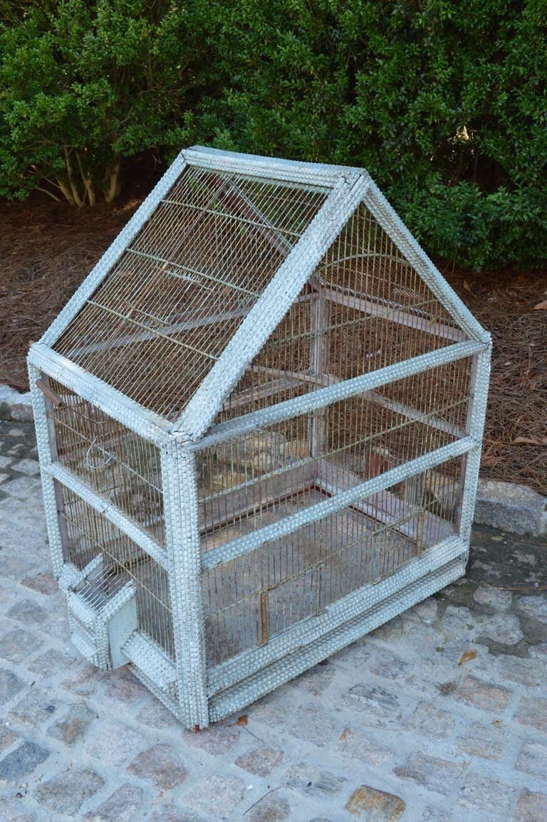 1920's French Folk Art Bird Cage 4