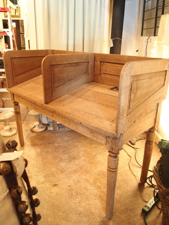 19th c. French Oak railroad station counter In Good Condition For Sale In Nashville, TN