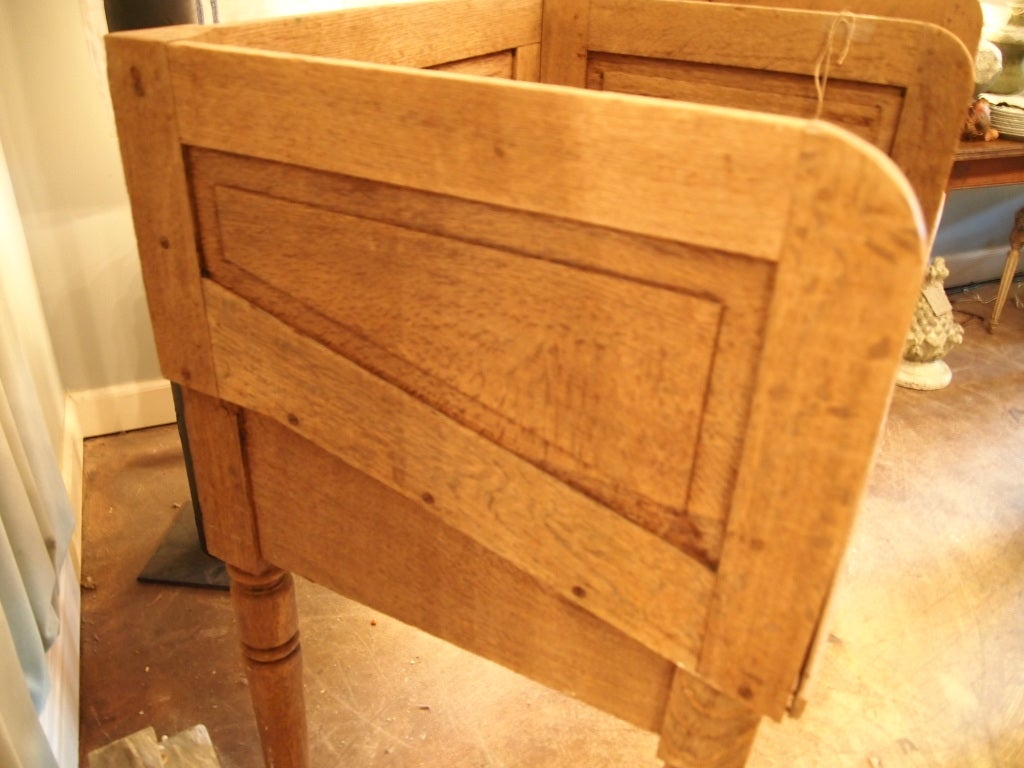 Brass 19th c. French Oak railroad station counter For Sale