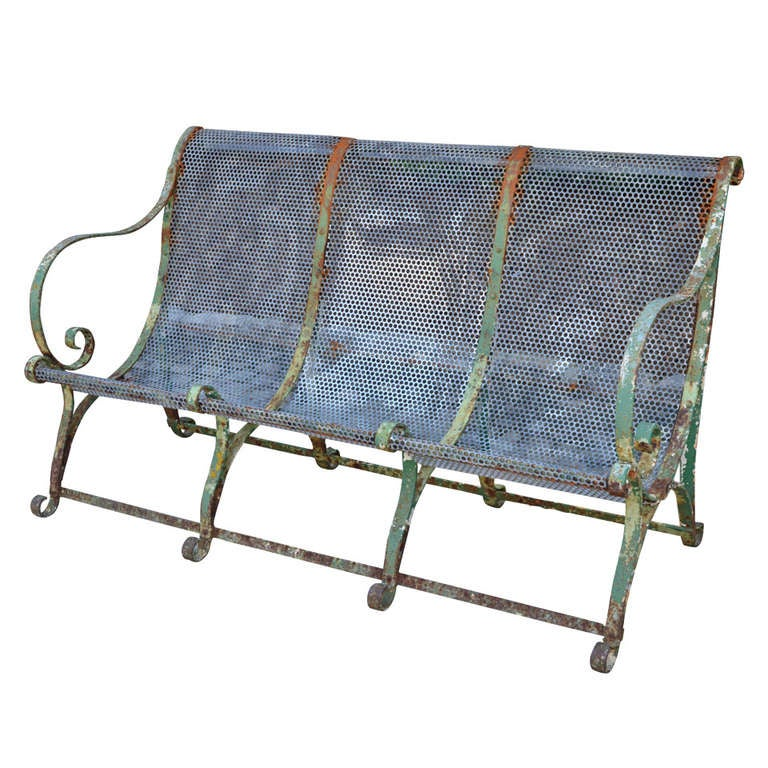 19th C French Jardin Bench For Sale