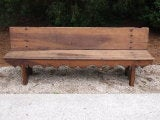 French Carved Oak Bench thumbnail 2