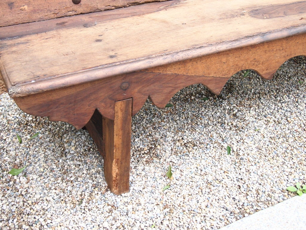 French Carved Oak Bench image 3
