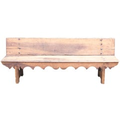 French Carved Oak Bench thumbnail 1