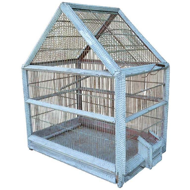 1920's French Folk Art Bird Cage 1