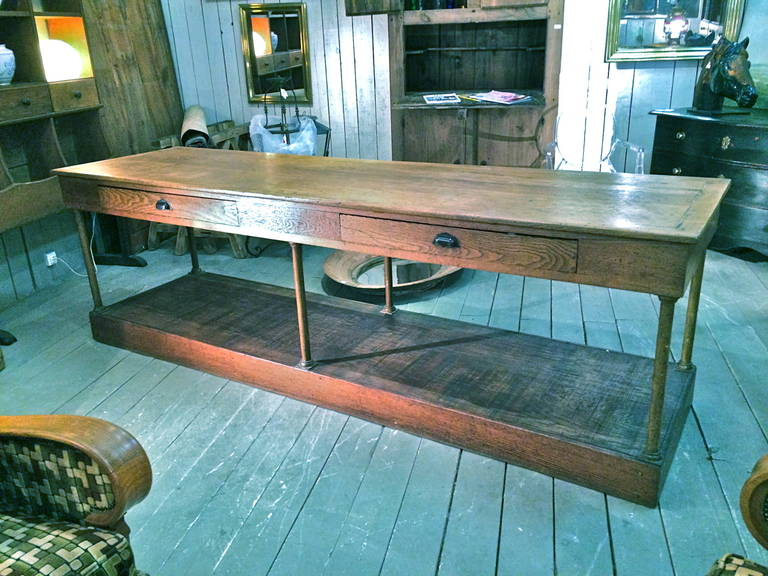 19th C FrenchWalnut Shop Counter 5