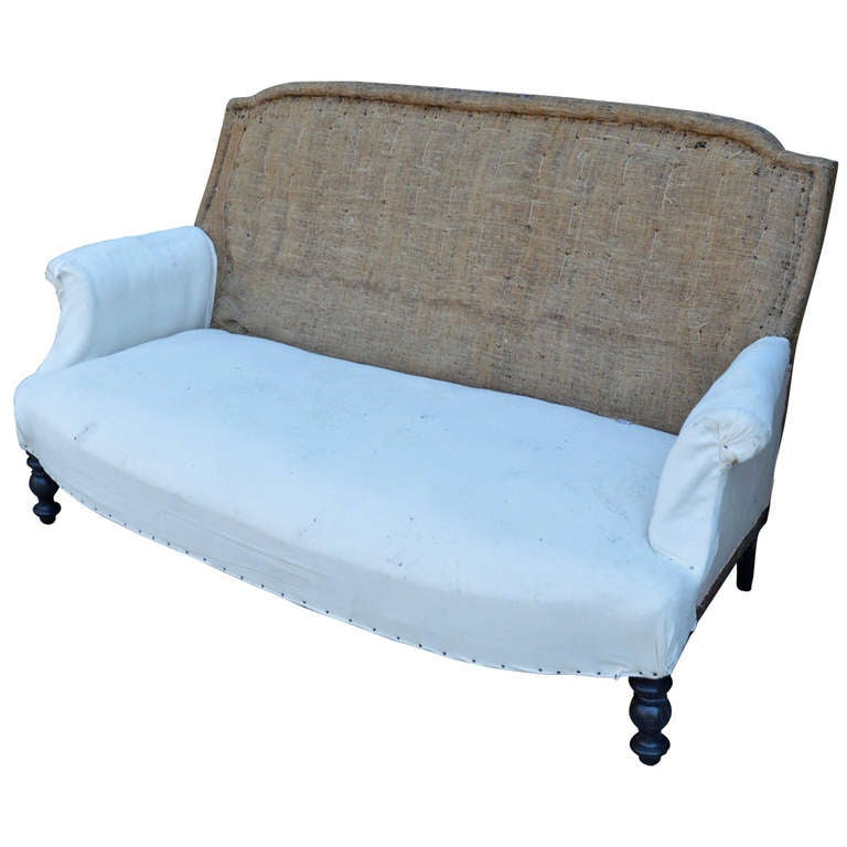 19th C French Settee For Sale