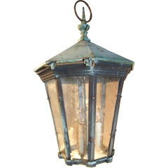 19th C. English Copper Lantern