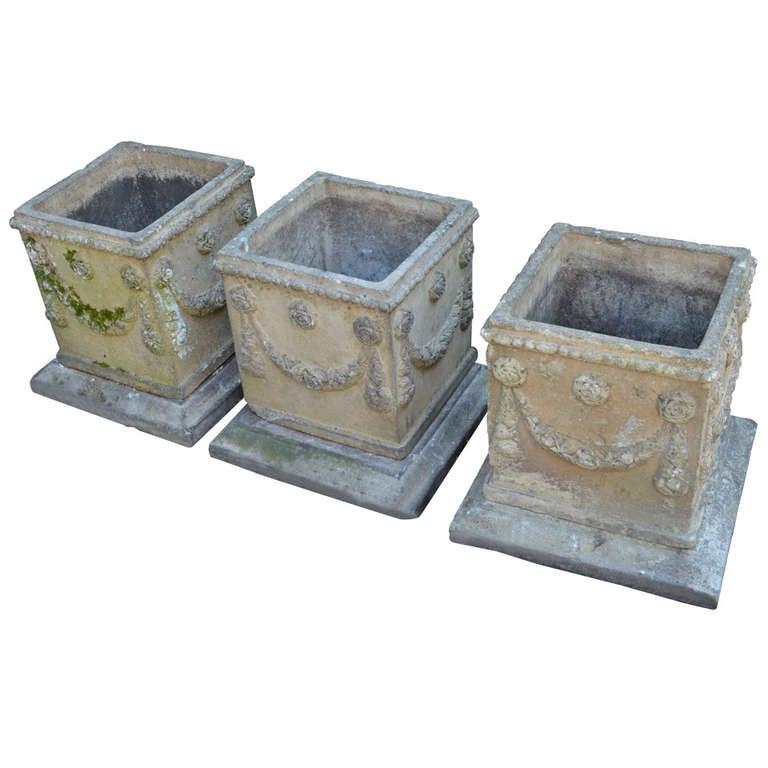 19th c. English Compton Stone Planters For Sale