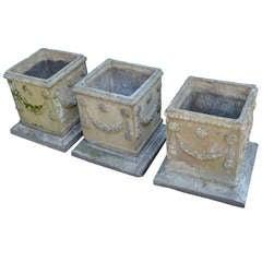19th c. English Compton Stone Planters