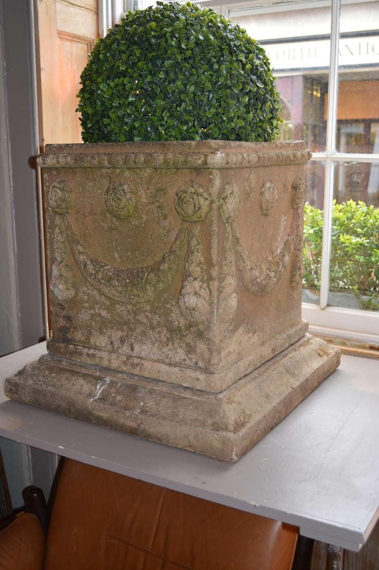 19th c. English Compton Stone Planters For Sale 3