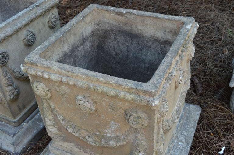 19th c. English Compton Stone Planters In Good Condition For Sale In Nashville, TN