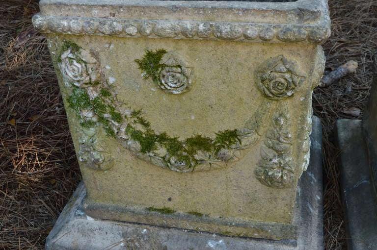 19th c. English Compton Stone Planters For Sale 2