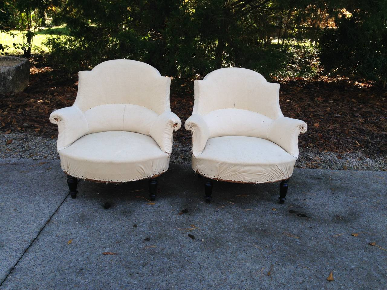 Pair 19th  C French Salon Chairs For Sale 2