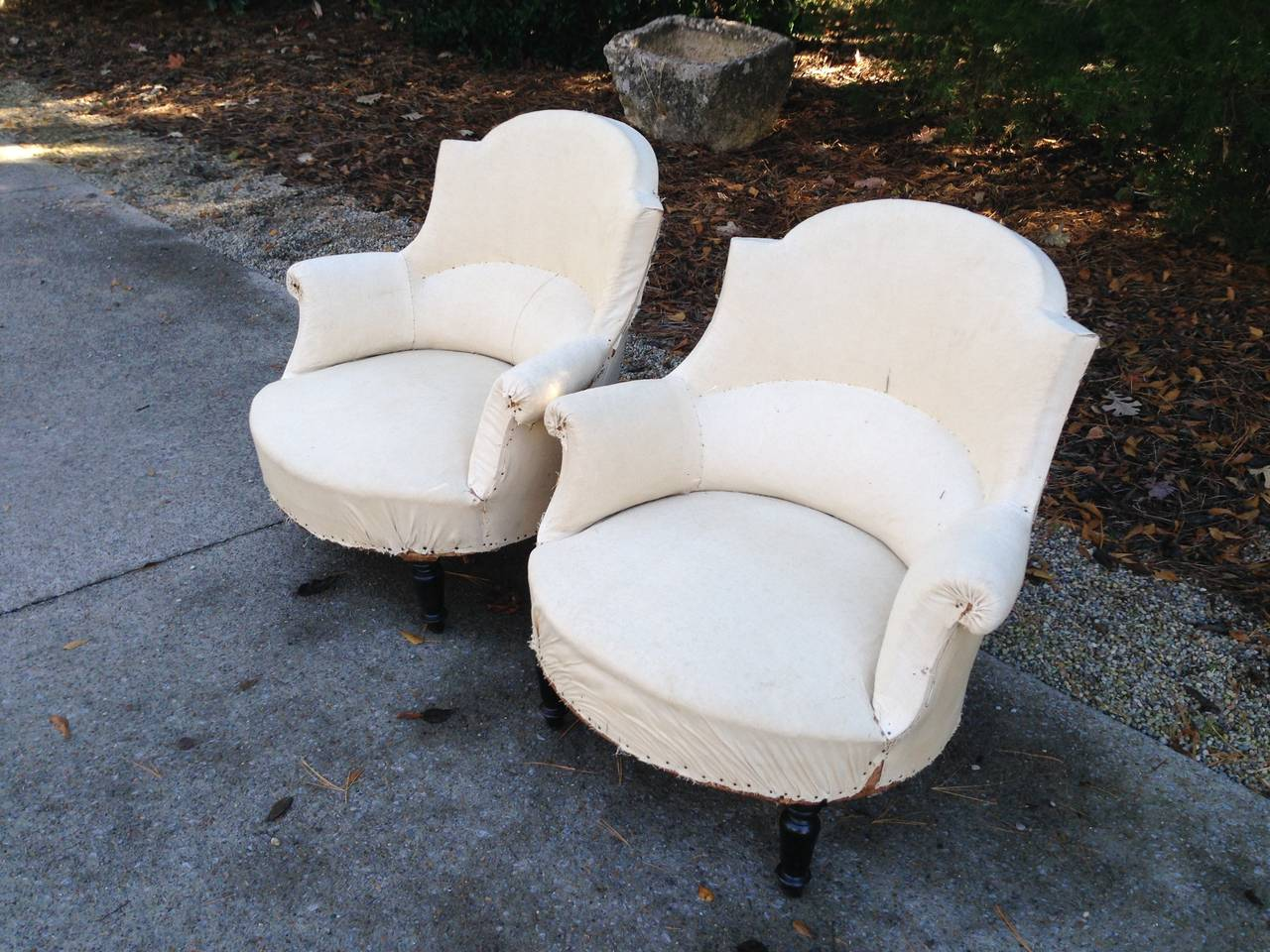 Pair 19th  C French Salon Chairs For Sale 1