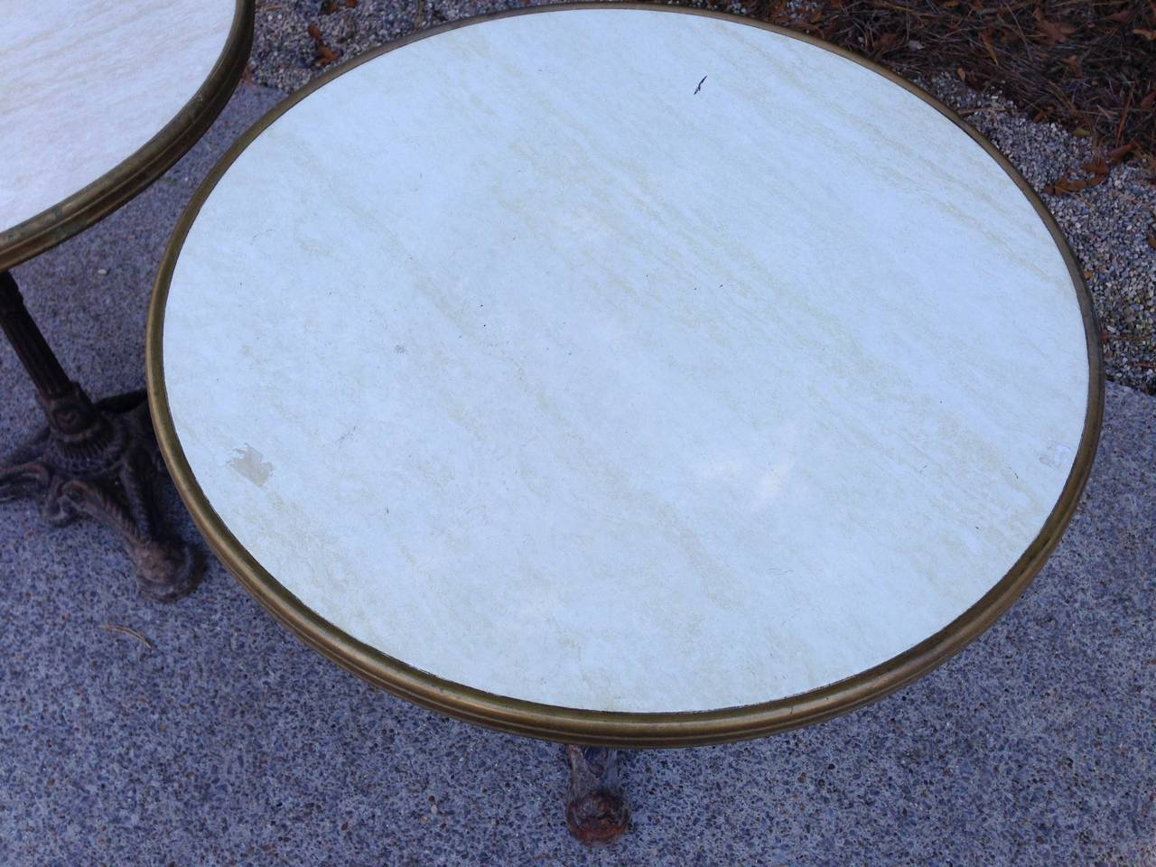 Pair of French Bistro Tables For Sale 2