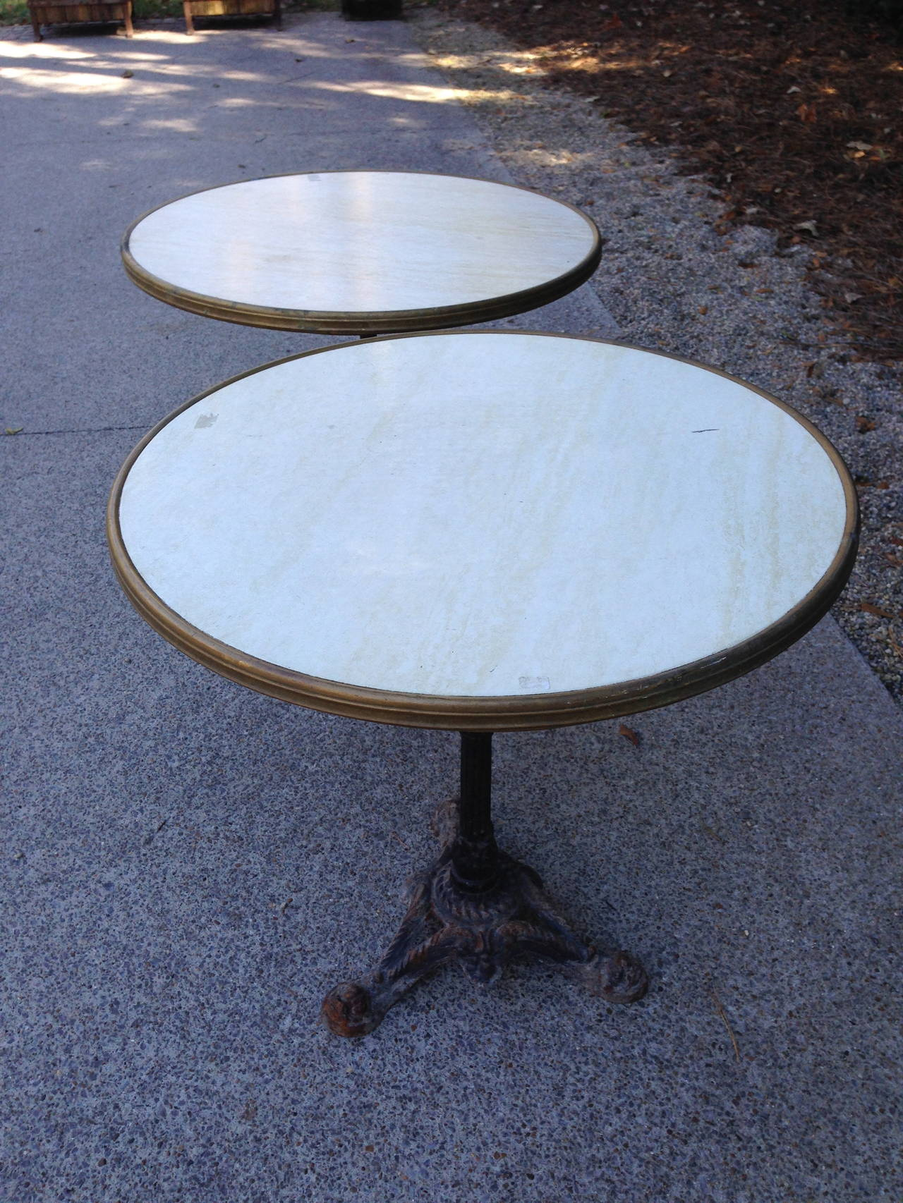 Pair of French Bistro Tables In Good Condition For Sale In Nashville, TN