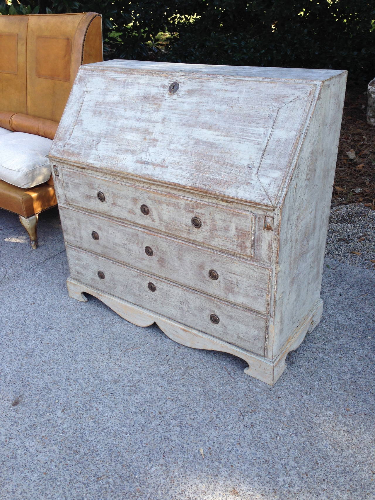 19th Century Gustavian Drop Front Secretaire In Good Condition For Sale In Nashville, TN
