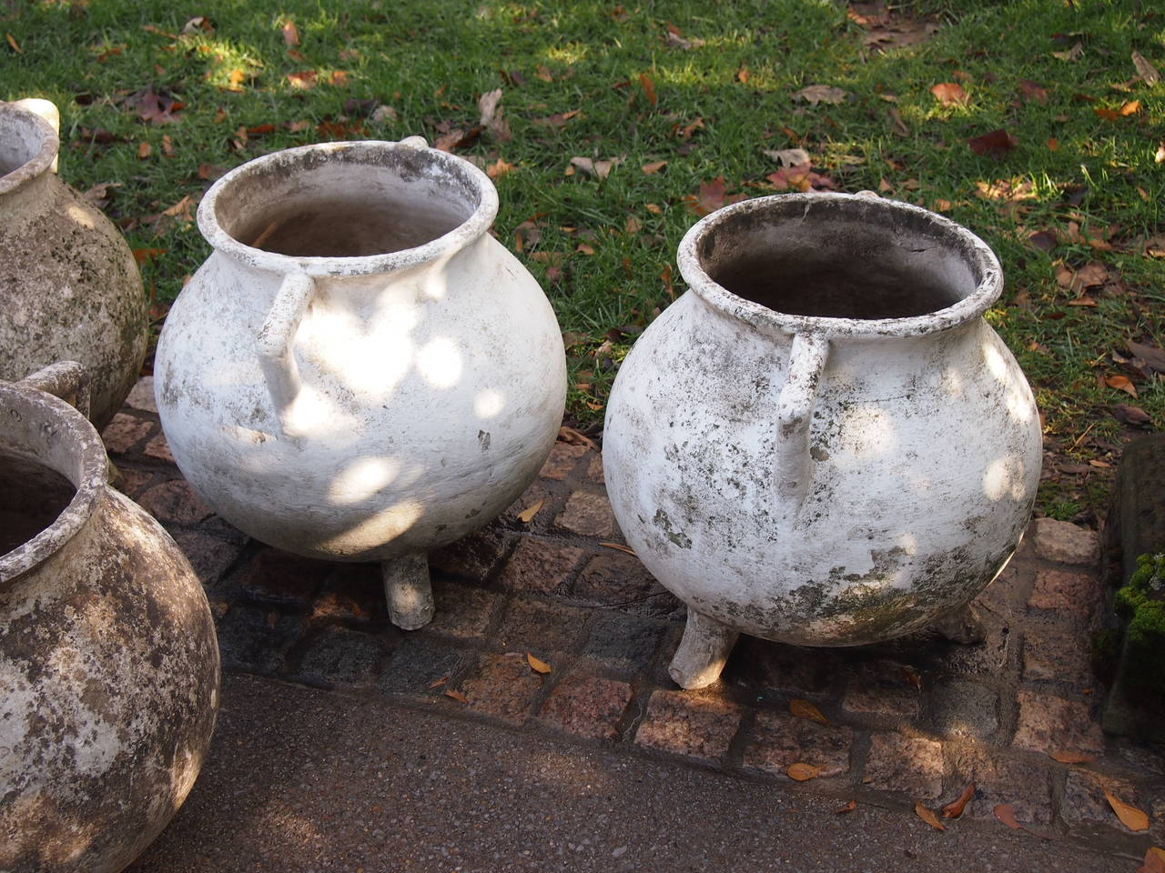 Cement Set of French Jardinieres/Planters For Sale