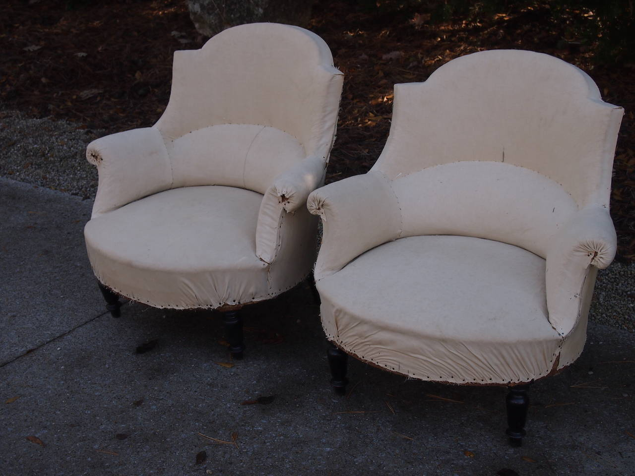 Pair 19th  C French Salon Chairs In Good Condition For Sale In Nashville, TN