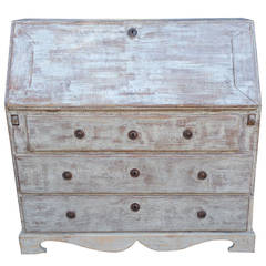 19th Century Gustavian Drop Front Secretaire