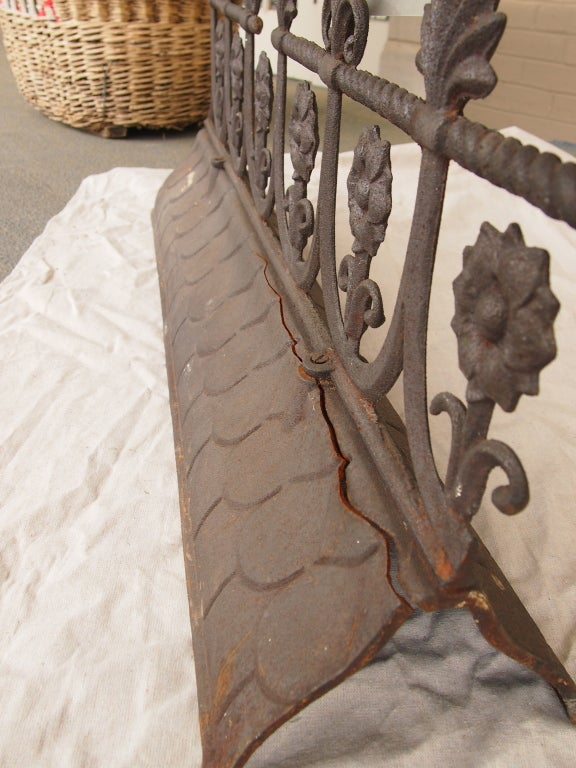 19th Century French Iron Roof Ridge For Sale At 1stdibs
