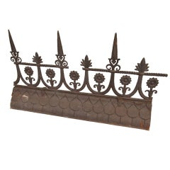 19th Century French Iron Roof Ridge