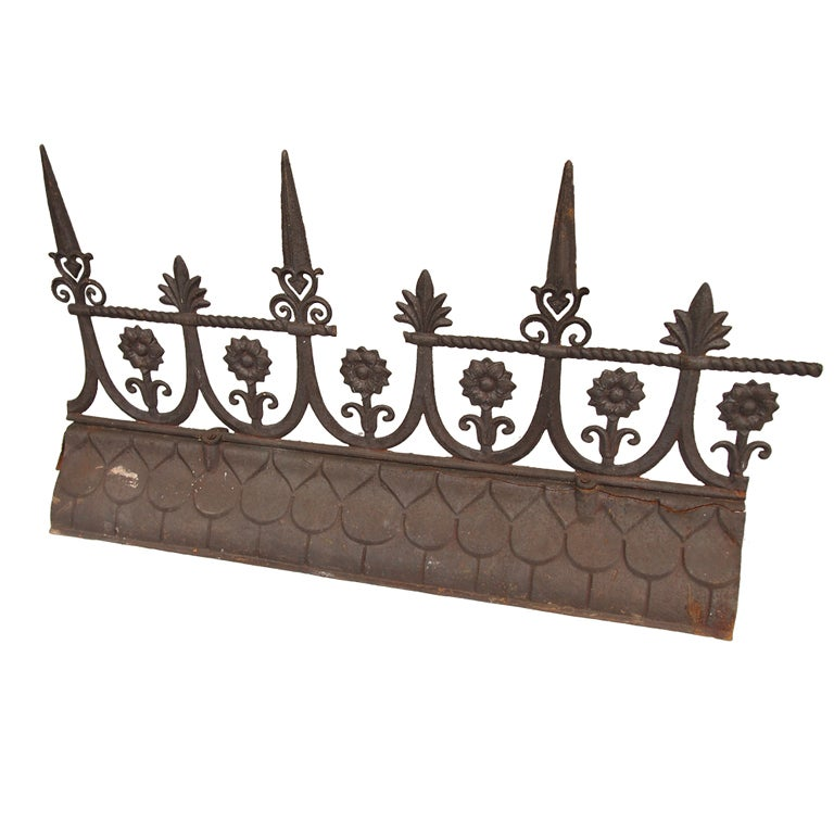 19th century french iron roof ridge for sale at 1stdibs Paris building supply paris tn