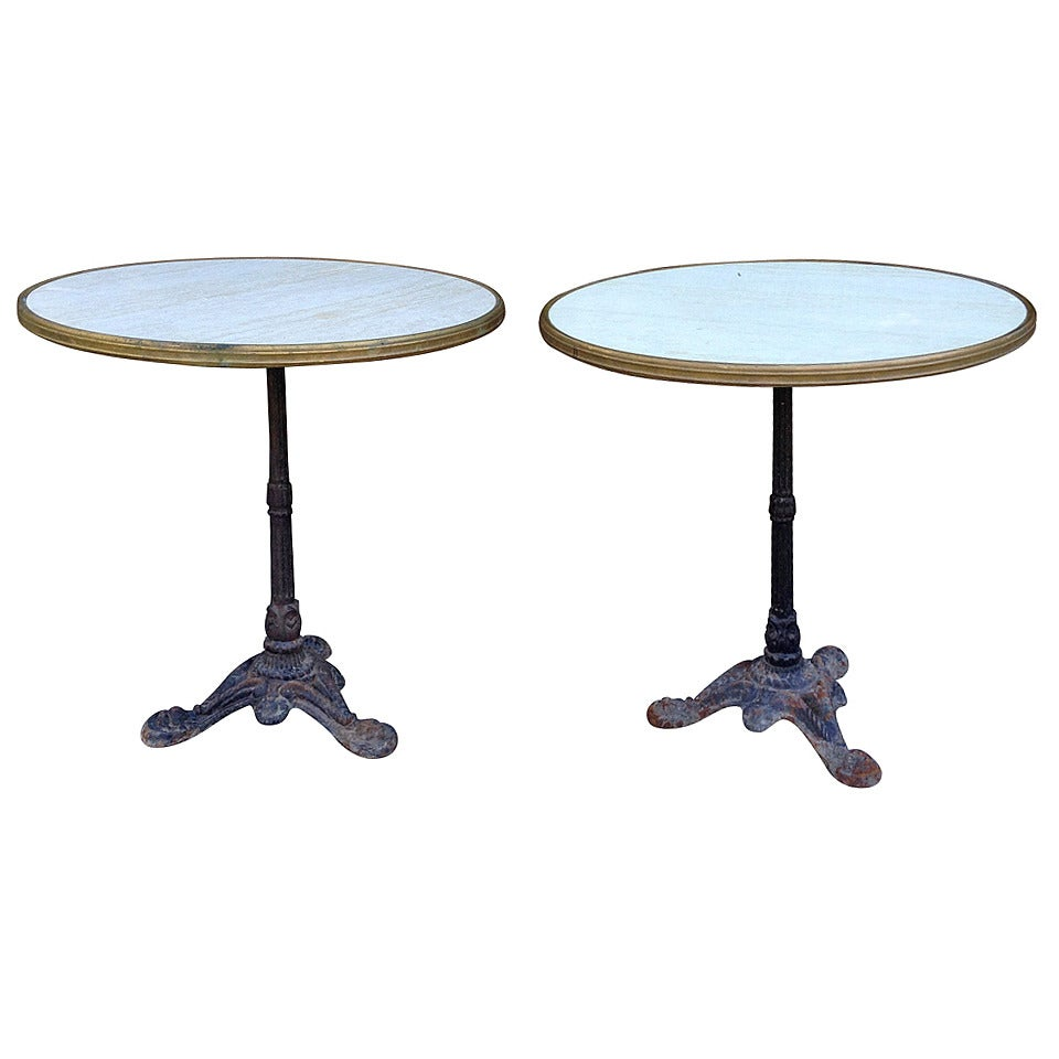 Pair of French Bistro Tables For Sale