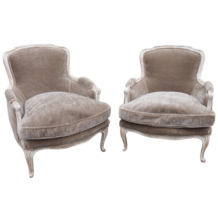 Pair French Louis Xiv Bergere Chairs At 1stdibs
