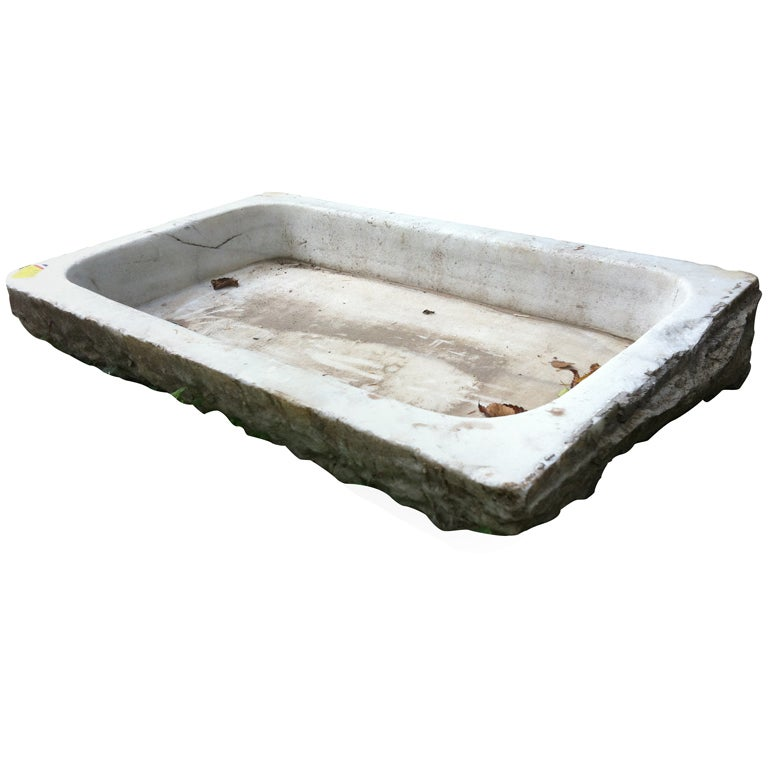 Carved Stone Sink : 19thc French Carved Marble Sinks