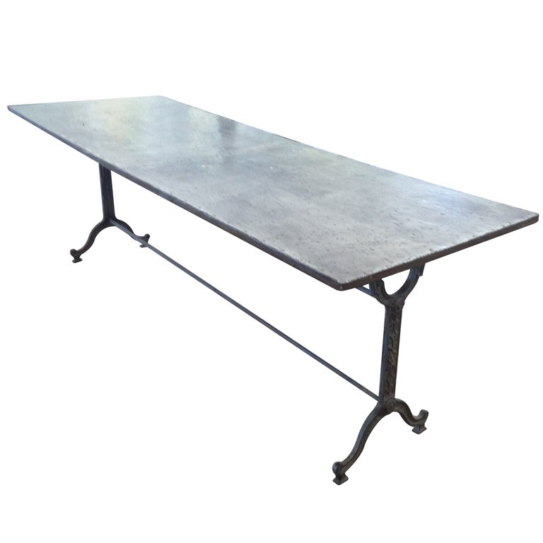 1900 french zinc bistro table at 1stdibs for Table exterieur zinc