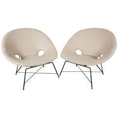 """A pair of """"Kosmos"""" lounge chairs by Augusto Bozzi"""
