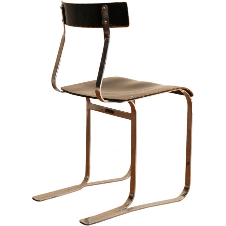 marcel breuer side chair at 1stdibs. Black Bedroom Furniture Sets. Home Design Ideas