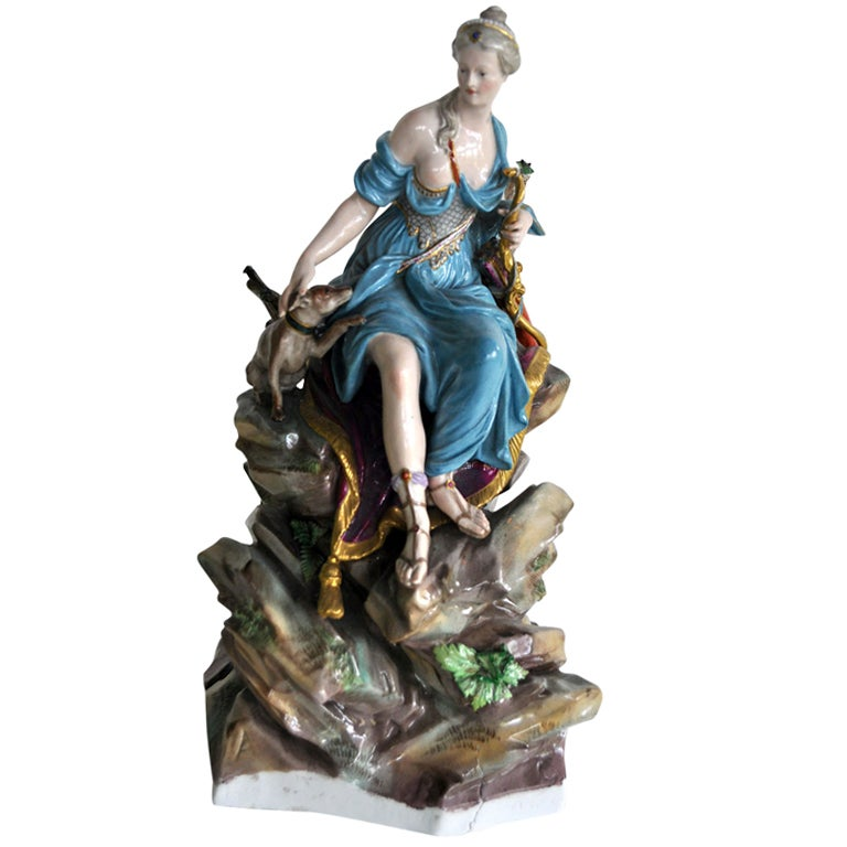 18th Century Meissen Porcelain Figure Of Diana At 1stdibs