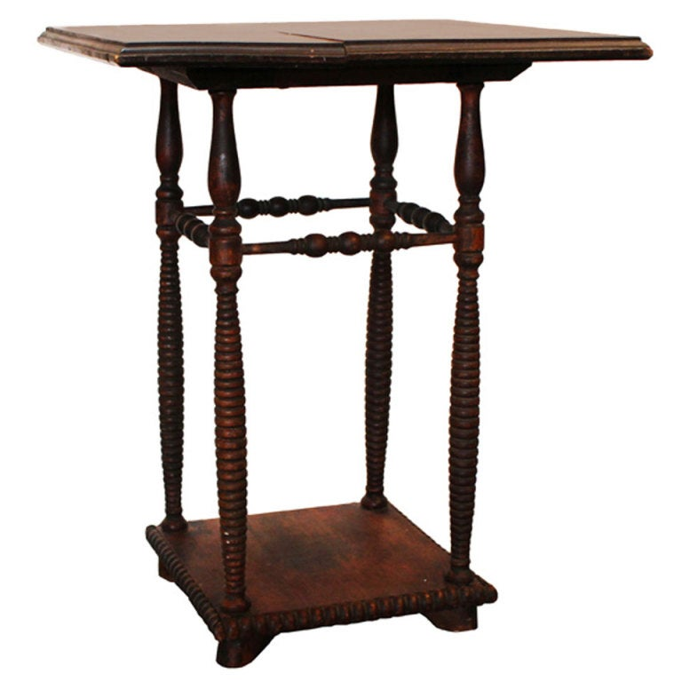 Antique Spindle Leg Side Table At 1stdibs