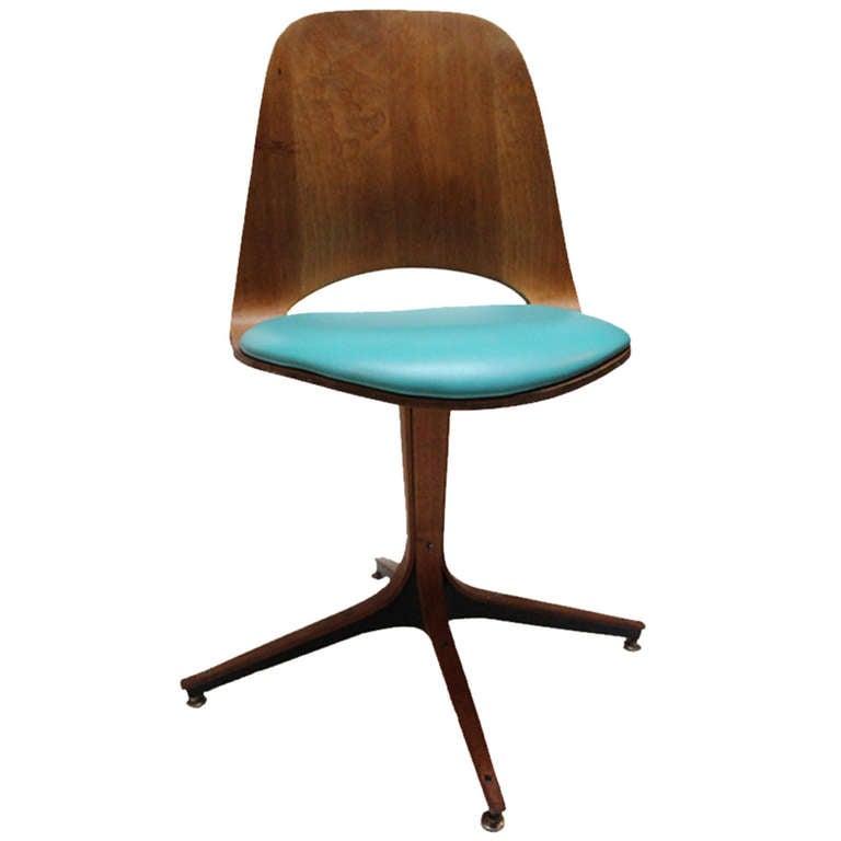 vintage plycraft teal chair at 1stdibs