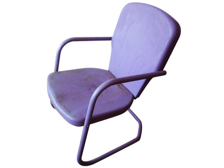 purple metal patio chairs at 1stdibs