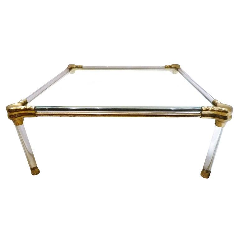 Acrylic And Glass Coffee Table: Glass And Acrylic Coffee Table At 1stdibs
