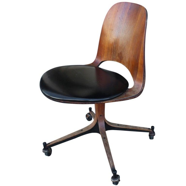 vintage plycraft desk chair at 1stdibs